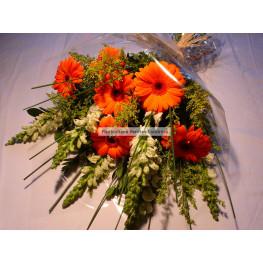 Bouquet de gérberas e boca-de-leão