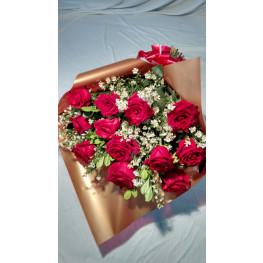 Bouquet de ROSAS IMPORTADAS cor vermelha