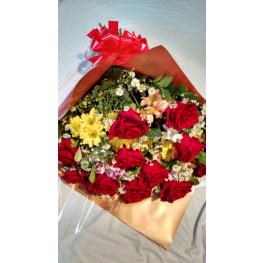 flores do campo com rosas IMPORTADAS vermelhas